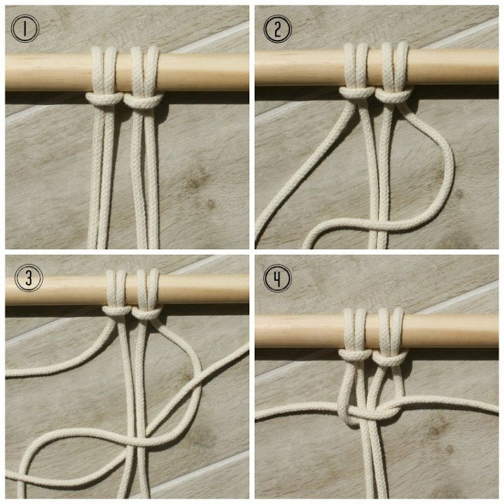 easy tutorial for basic macrame knots