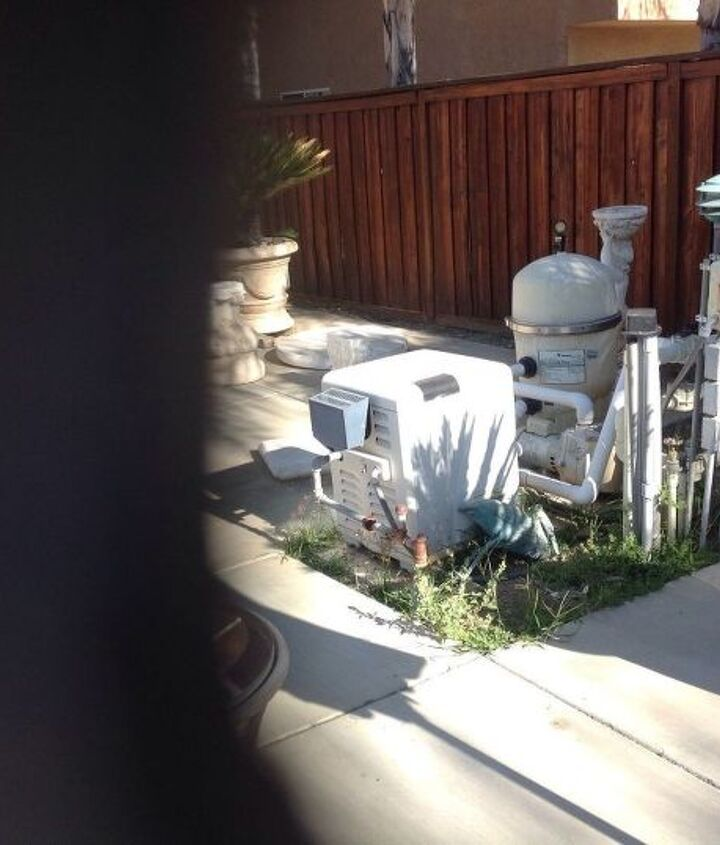 q how can i hide my very ugly pool equipment and cut down on pump noise