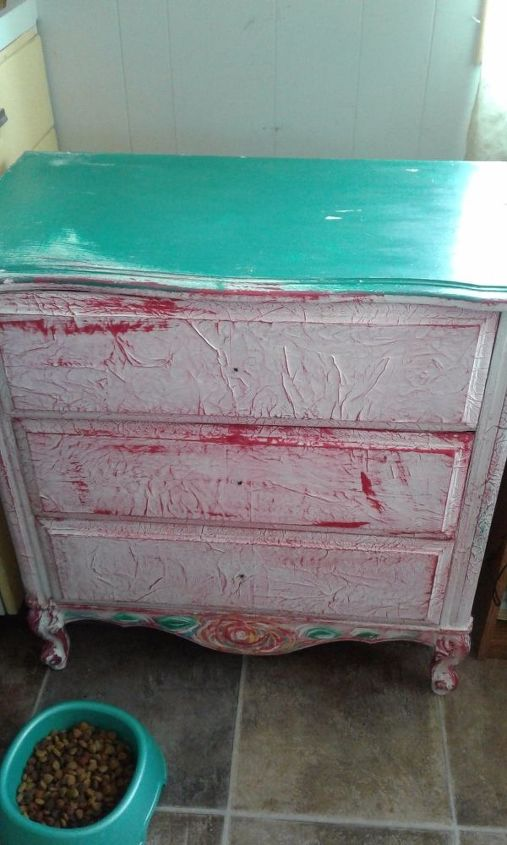 q what s the best way to remove decoupage from this dresser