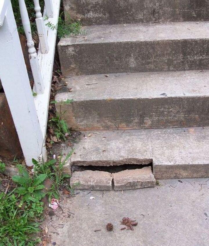 q concrete step repair