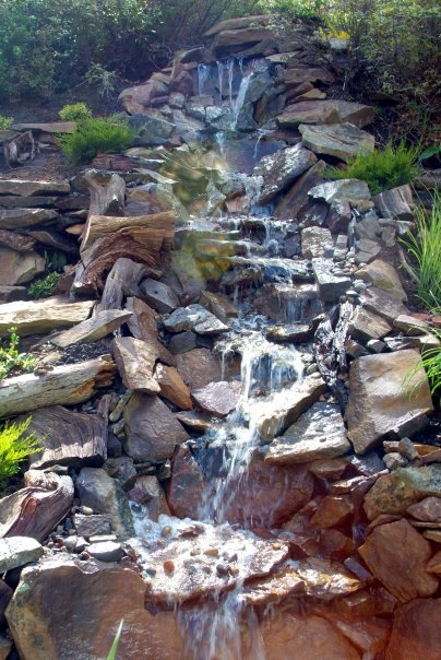 How to Build a Backyard Waterfall up a Slope | Hometalk