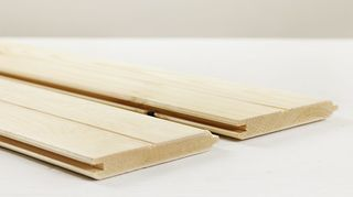 , Smooth side for flooring not the grooved