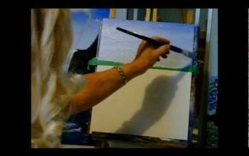 How to Blend a Beautiful Blue Sky With Acrylic Paint