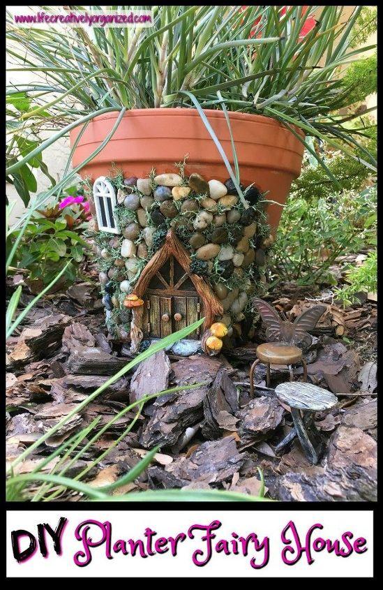 whimsical fairy house planter