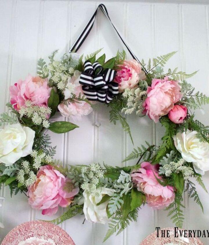 easy summer wreath in 5 easy steps