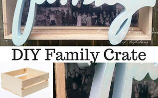 diy family wooden crate collage decor