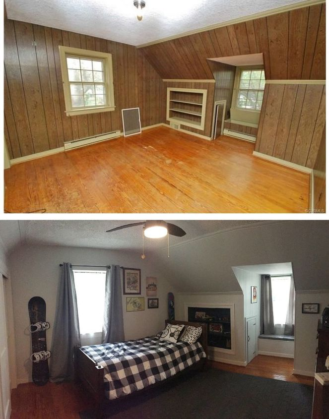 Painting Wood Paneling: What A Difference Painting Old Wood Paneling Makes!