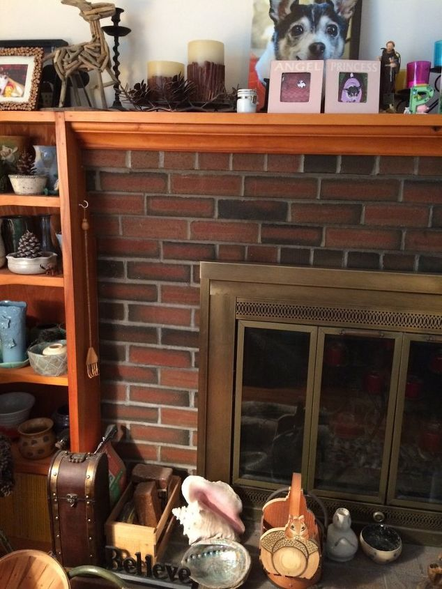q how do i update and paint my fireplace