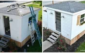What a Difference a Weekend Makes! Exterior Changes on the Guest Shed