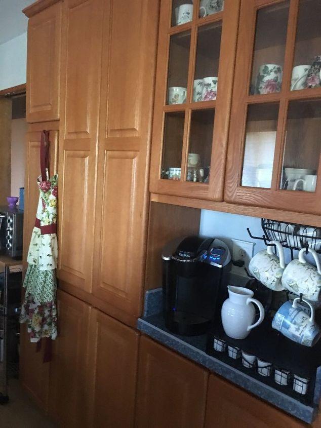 q i have kitchen cabinets w round corner how do i update