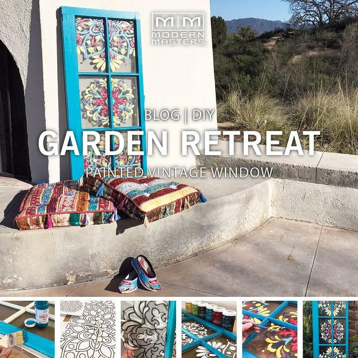 Garden Decor How To Diy Painted Vintage Window Hometalk