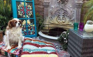 garden decor how to diy painted vintage window