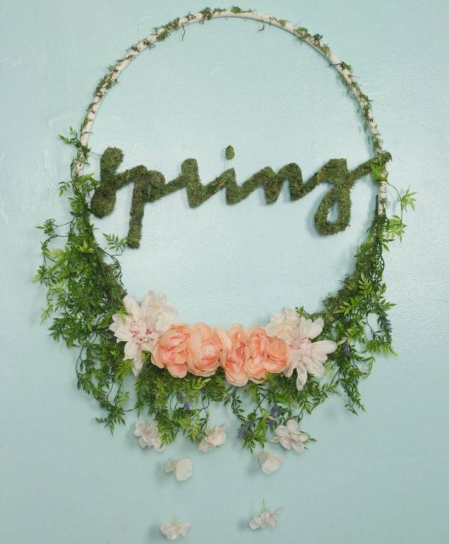 Hula Hoop Spring Wreath Hometalk