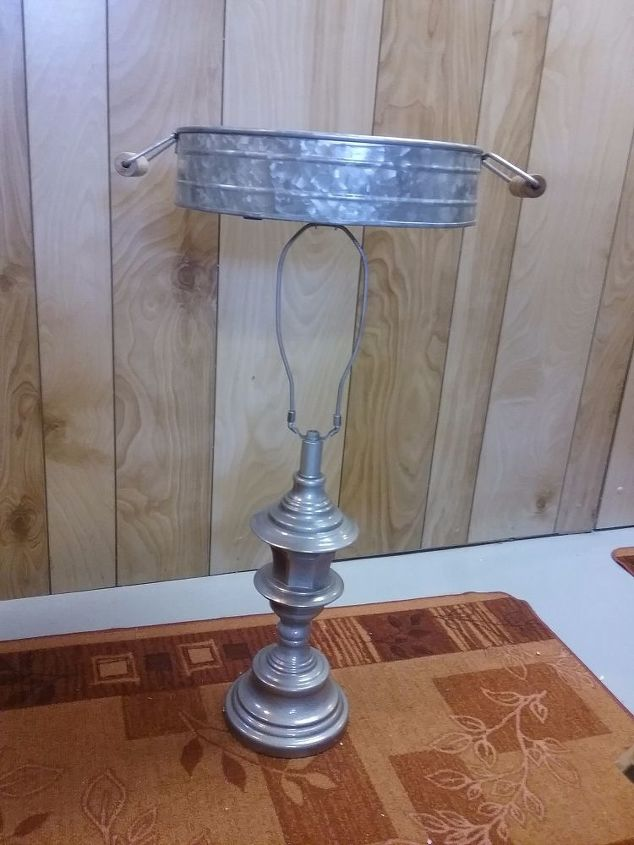 Attach Lamp Base to the Container