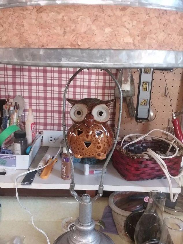 DIY Lamp Birdbath