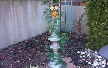Lamp Base Turned Birdbath!