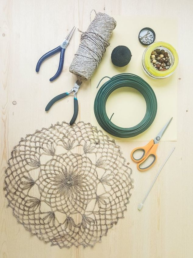 Copy This Unique Doily Idea For Your Wall Hometalk Stunning How To Make Doily Dream Catchers
