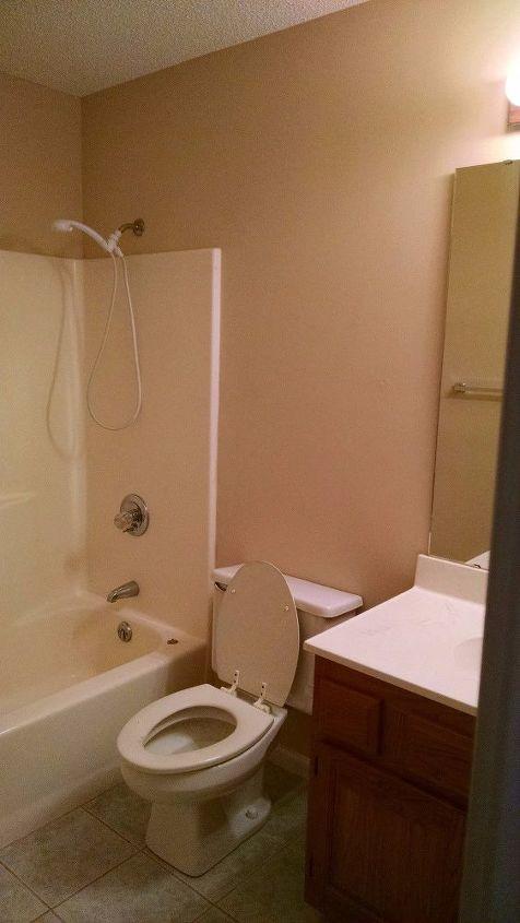 BEFORE - Builder Grade Guest Bathroom