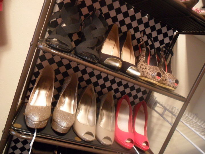s 10 nifty ways to get your heels in order, Repurpose A Walmart Powder Room Rack