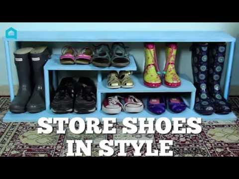 s 10 nifty ways to get your heels in order, Insert Shelves For A Shoe Rack