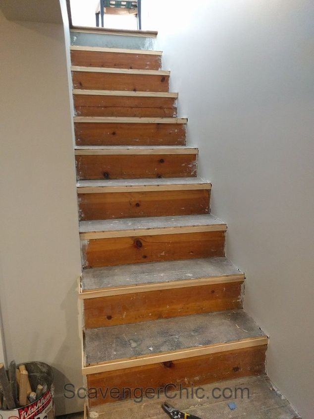 Weekend Project Installing New Stair Treads Hometalk