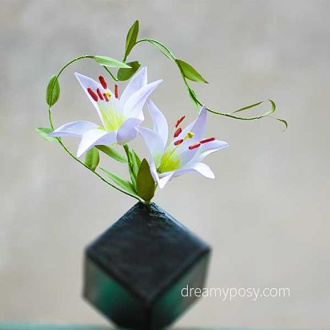 Diy lily flower from normal printer paper free template hometalk diy paper lily flower from normal printer paper free template mightylinksfo