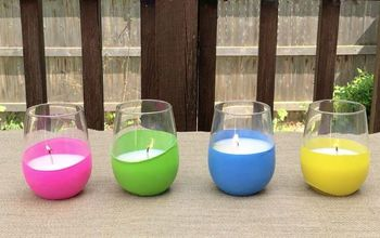 balloon wrapped citronella candle votives
