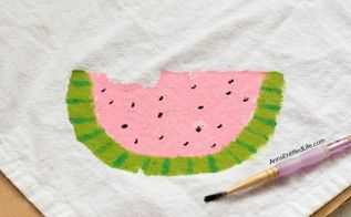 paint some watermelon napkins