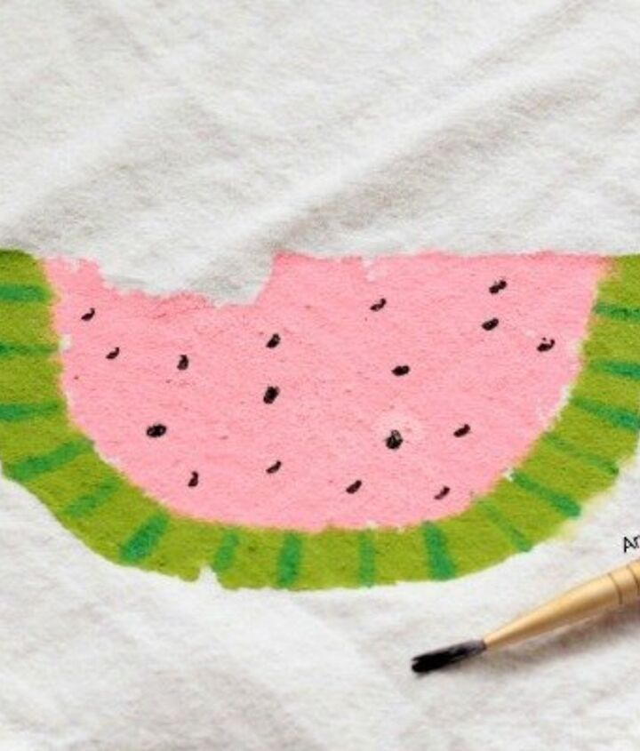 paint some watermelon napkins