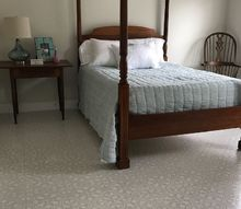 beautiful stenciled floor on a budget, Finished