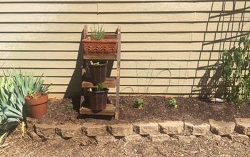 Vertical Herb Garden Ladder Shelf From a Wood Pallet