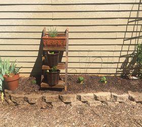 Vertical Herb Garden Ladder Shelf From A Wood Pallet