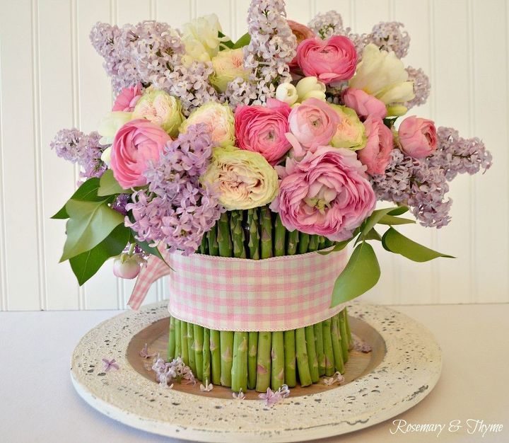 a spring floral arrangement diy