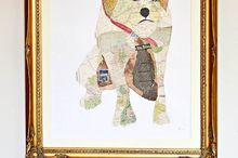 make some fabulous wall art with a diy map pet portrait