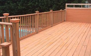 cleaning and staining a wood deck