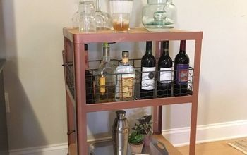 Trash Cart Turned Bar Cart