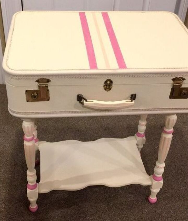 just in case a suitcase vanity