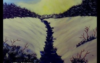 How to Paint a WINTER WONDERLAND Landscape With Acrylics Easy