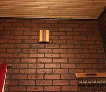 q how to antique my fake paneled brick walls