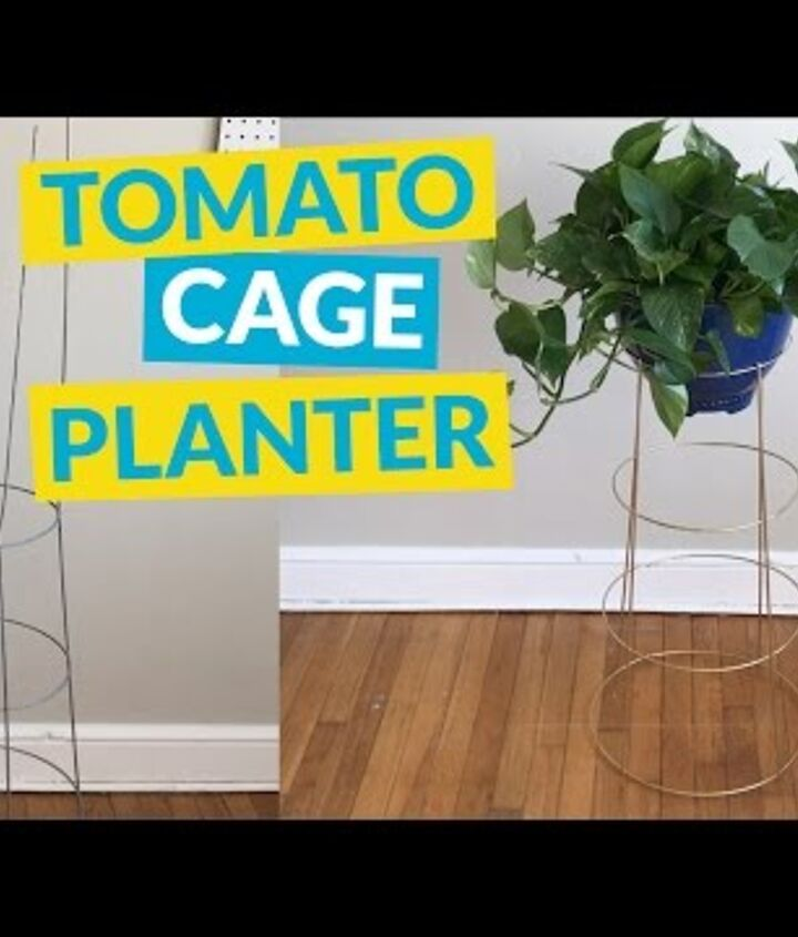 s gardeners copy these 20 stunning ways to display your plants, Repurpose An Old Tomato Cage