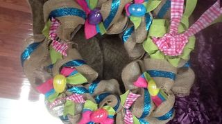 , Made for myDIL for spring You could switch out the eggs for sea shells flowers flip flops
