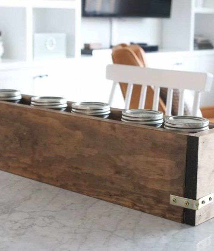 build your own wood planter for your dining room table