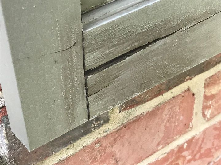 q 2 year old wood shutter damage cause