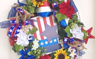 turn a pine wreath into a patriotic wreath, Your beautiful Patriotic wreath