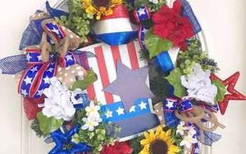 Turn a Pine Wreath Into a Patriotic Wreath