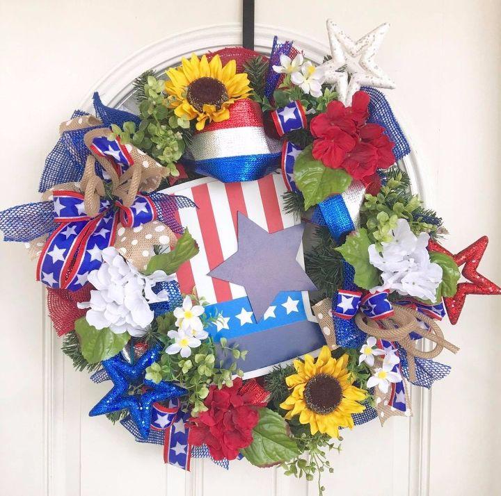 Your beautiful Patriotic wreath