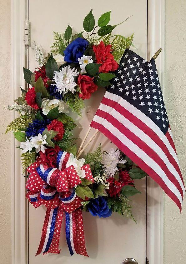 e patriotic grapevine wreath