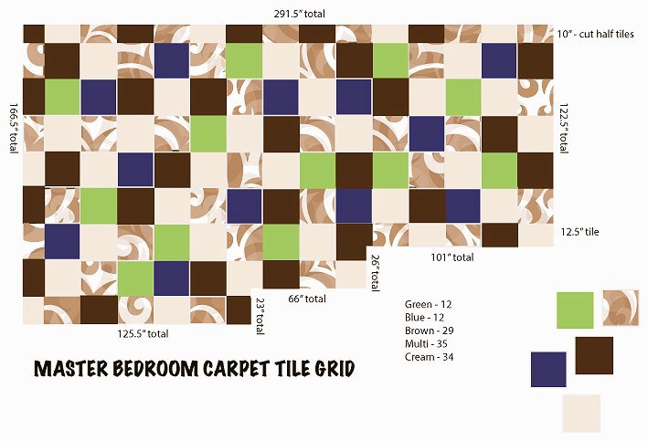 one tile two tile three tiles four carpet tile craze