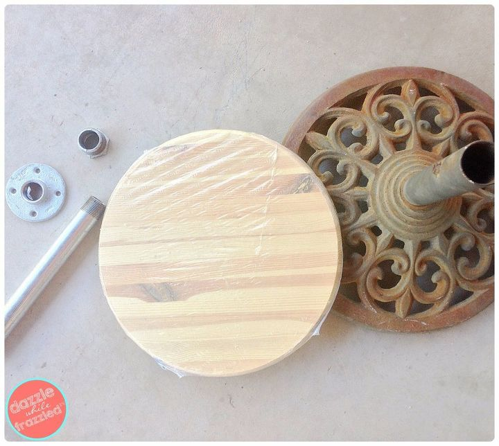 From Rusted Umbrella Stand To Patio Table Hometalk