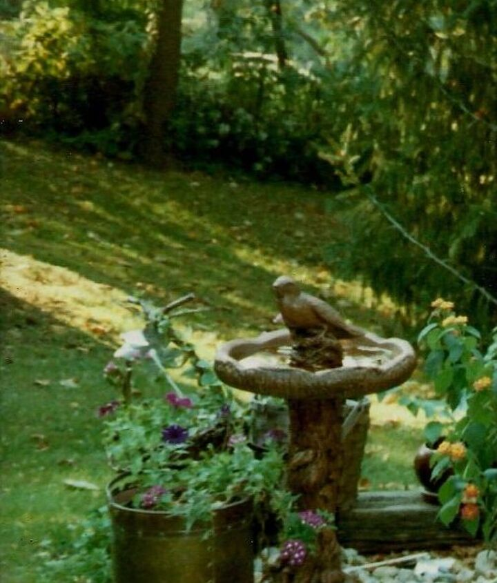q how to make bird bath bowl for my existing birdbath stand